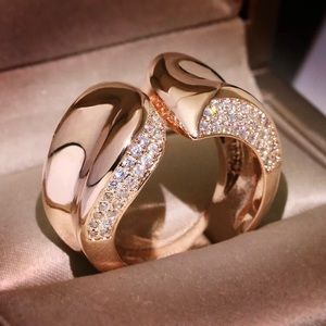 Jewelry - Noir Pave Rosetone Sterling Silver Band Ring
